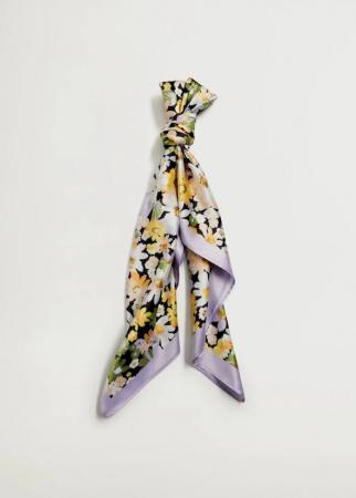 Foulard met bloemetjesprint
