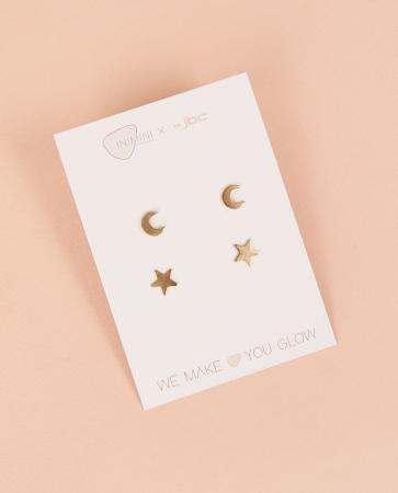 Des boucles d'oreilles en laiton de la marque de bijoux Inimini Homemade