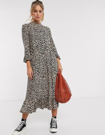 Maxi-jurk in dierenprint