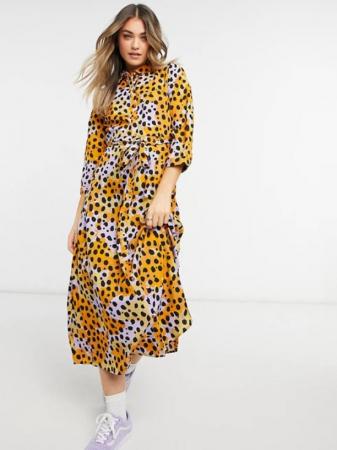 Meerkleurige jurk