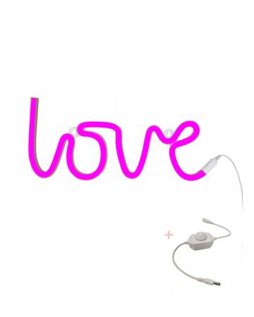 Neonlamp 'Love' + dimmer