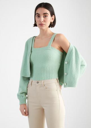 Crop top tricoté