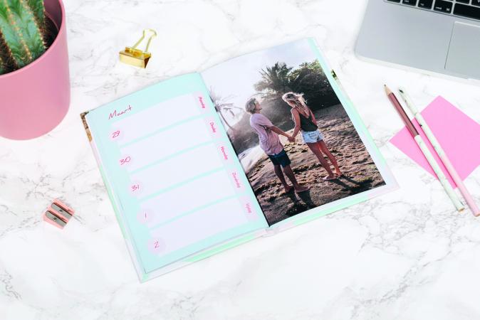 Agenda gepersonaliseerd met jouw foto's