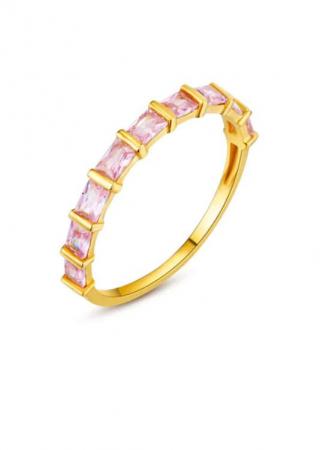 Bague en or avec zircon rose