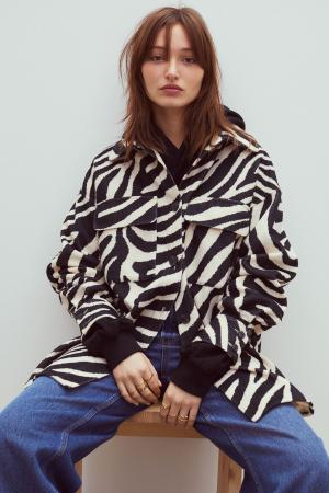 Hemdjas in zebraprint