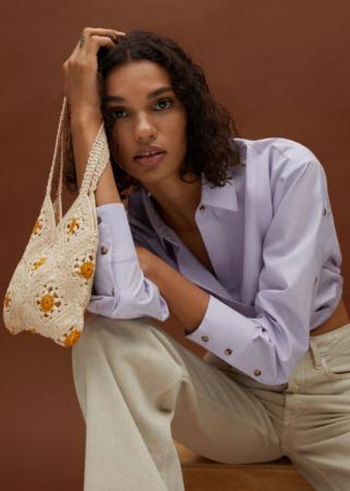 Handtas met bloemen