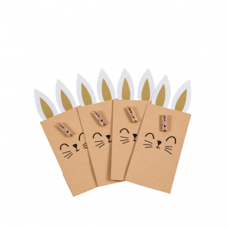 Set van vier papieren cadeauzakjes