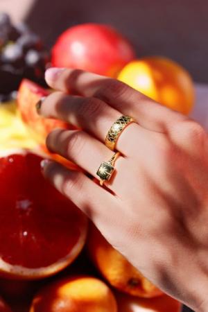 Ring met palmboom