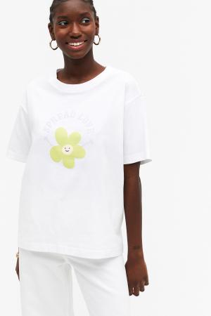 T-shirt blanc avec phrase