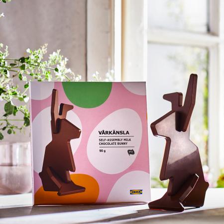 Chocoladepaashaas om zelf in elkaar te zetten