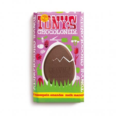 Tony's Chocolonely-paasreep melkchocolade, marsepein & amandelnootjes