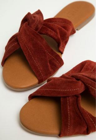Suède slippers