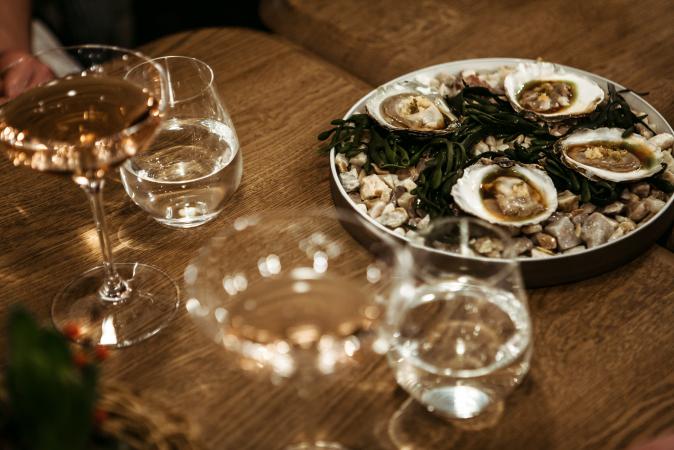 Huîtres gratinées sauce miso