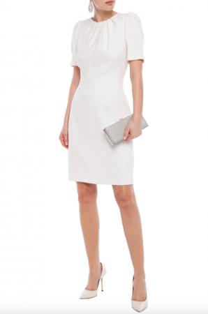 Minimalistische mini-jurk met korte mouwen