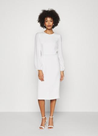 Minimalistische midi-jurk met ronde hals