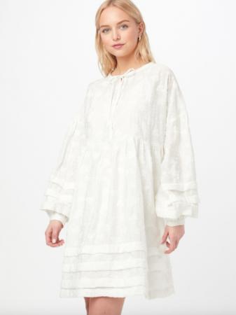 Mini-jurk met wijde mouwen en borduursels