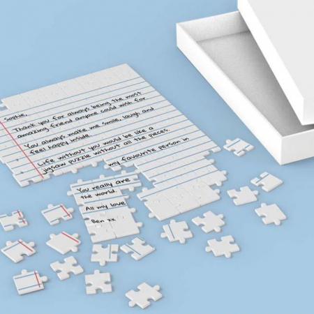 Puzzel met eigen boodschap