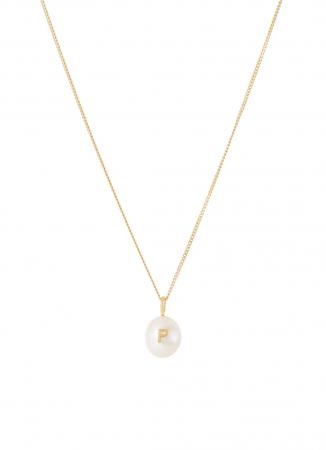 Collier plaqué or avec perle d'eau douce personnalisée