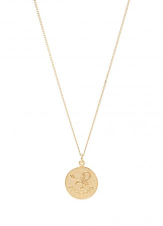Collier plaqué or avec amulette signe astrologique
