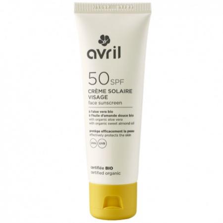 Crème Solaire Visage SPF 50 – Avril