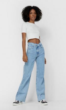 Jeans à taille asymétrique