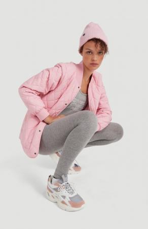 Roze gewatteerde jas