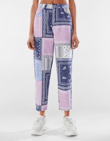 Mom jeans met patchwork
