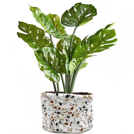 Plantenmand van biologisch katoen en natuurrubber