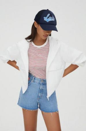 Veste en nylon blanche