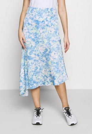 Blauwe rok met print