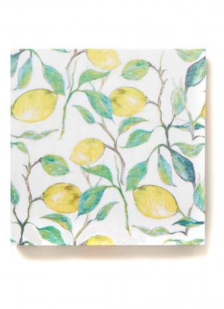 Papieren servetten met citroendessin