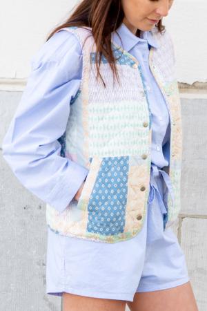 Vest met patchwork