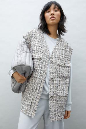 Vest in tweed