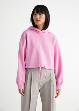 Cropped roze sweater