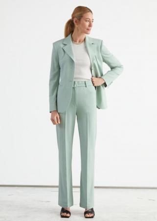 Pantalon met hoge taille