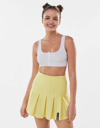 Mini-jupe jaune