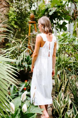 Lange jurk met open rug