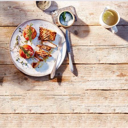 Dinde et tomates au barbecue (4 points)