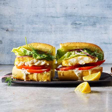Burgers de poisson croustillants (6 points)