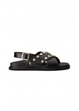 Zwarte sandalen met spijkerdetails