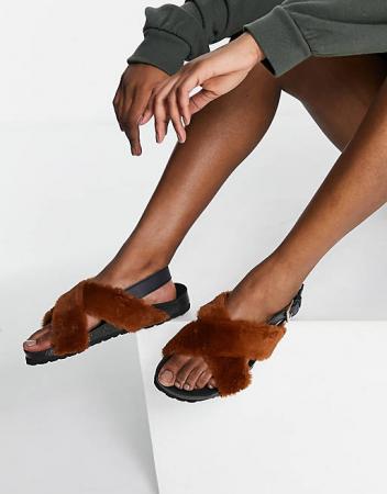 Sandalen met teddy