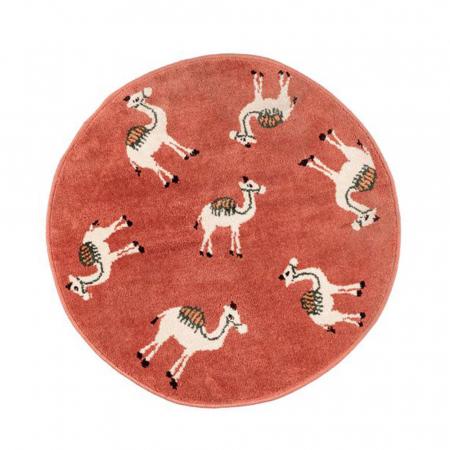 Rond tapijt kamelen