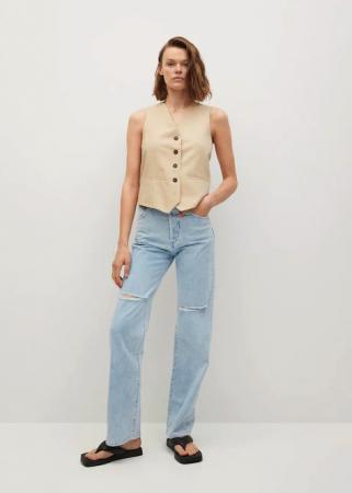 Jeans droit taille haute