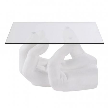 Table d'appoint avec pied en forme de main