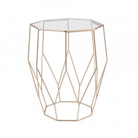 Table en métal et verre