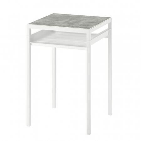 Table d'appoint imitation ciment