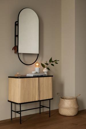 Miroir avec étagère