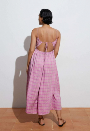 Geruite jurk