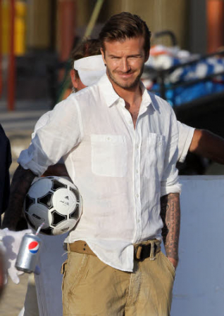 Reporters avid beckham and 8