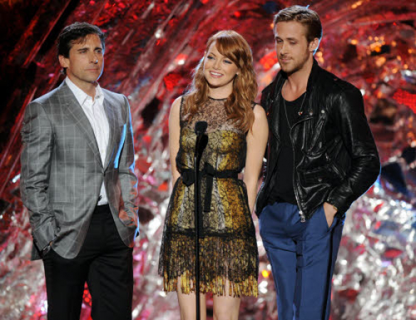 Steve Carell, Emma Stone and Ryan Gosling